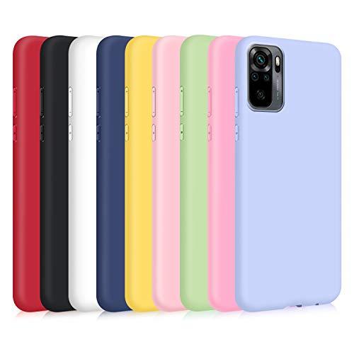 9X Funda para Xiaomi Redmi Note 10s/ Note 10 4G, Ultra Delgado Color Silicona Carcasa Premium Suave Flexible TPU Gel Bumper Protectora Caso Anti-Rasguños Anti-Choque