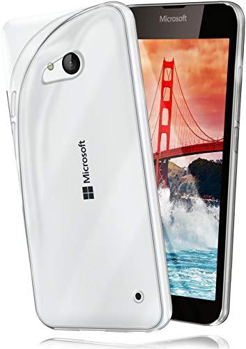 moex Aero Hülle für Microsoft Lumia 550 - Hülle aus Silikon, komplett transparent, Handy Schutzhülle Ultra dünn, Handyhülle durchsichtig - Klar