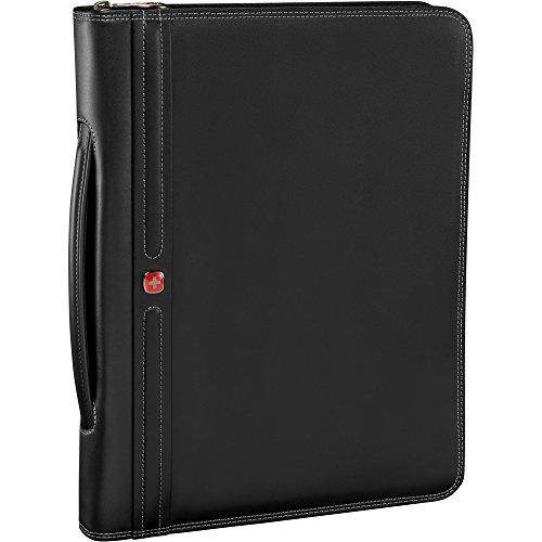 Wenger Luggage Concept Zippered Padfolio, Black, One Size