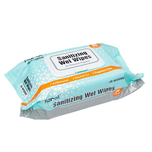 Karat Sanitizing Wet Wipes (12 Packs of 80 Wipes) - 960 ct