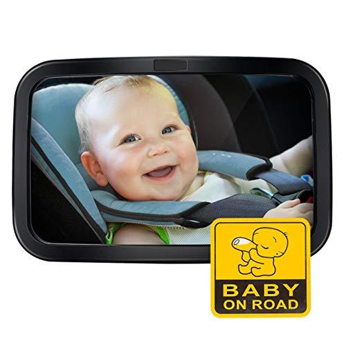 Miroir Auto Bébé Voiture Pour Siège Arrière, Rétroviseur De Surveillance Miroir De Auto En...