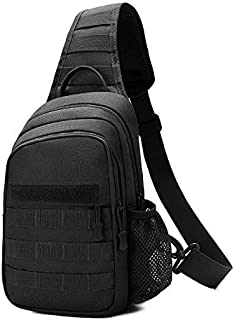 BAIGIO Small Tactical Sling Bag One Shoulder Chest Backpack Casual Daypack