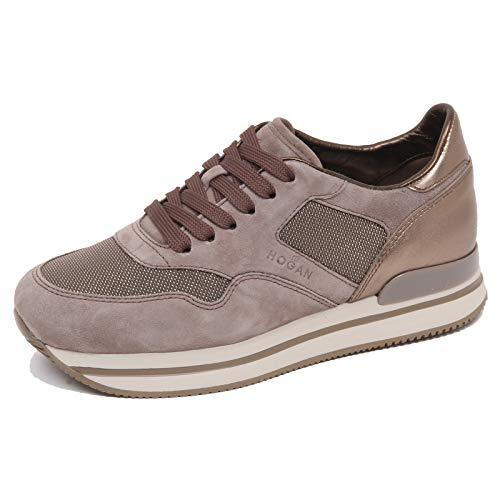 Hogan F5638 Sneaker Donna Light Brown/Gold H222 Scarpe Shoe Woman [36]
