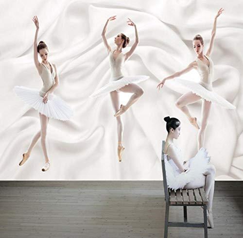 FotomuralesBailarina De Ballet Papel Pintado Fotográfico 3D Tejido No Tejido Decoración De Pared Moderna Para Habitación Salon Oficina 300CMx210CM