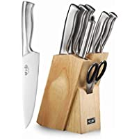8-Piece Sixilang Kitchen Knife Sets with Oak Wooden Block