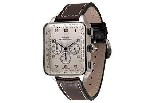Zeno-Watch Reloj Mujer - SQ Retro Cronógrafo 2020-159TH3-f2