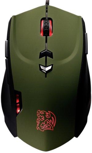 Thermaltake MO-TRN006DTK Theron Military Gaming Maus (5600dpi, 40 Markos) grün