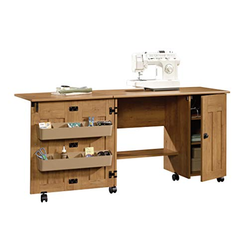 Sewing & Craft Cart/Table with Drop Leaf, Bishop Pine