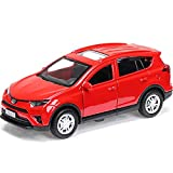 Toyota RAV4 Diecast Car 1/36 Scale Toy Red Сompact Сrossover SUV - Russian Collectible Metal Model