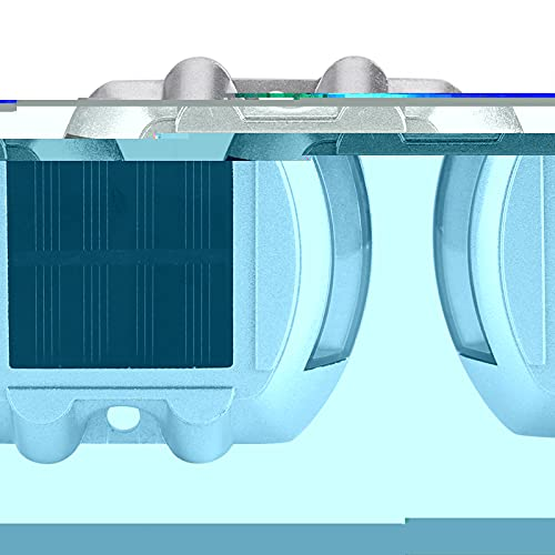 Kuuleyn Luces solares LED, fundición de Aluminio Energía Solar Impermeable Inalámbrico al Aire Libre Camino de Entrada Luz de Camino 6 Lámpara LED(Blanco)