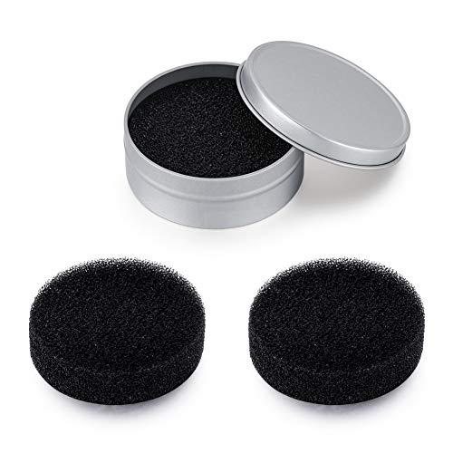 ASTOFLI 3 Pack Cleaner Sponge/Dry Makeup Brush Quick Cleaner Sponge/Removes Color from Your Brush without Anything/Compact Size for Travel