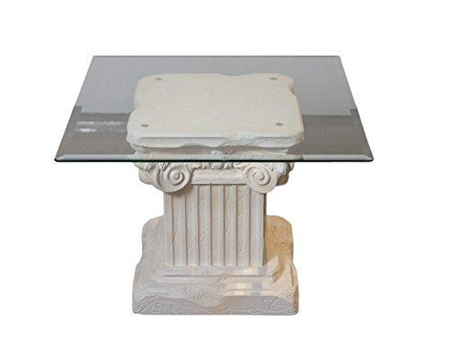 Antikes Wohndesign Beistelltisch Couchtisch Wohnzimmertisch Glastisch