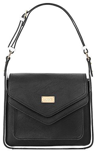 LYDC London Handtasche Kunstleder schwarz Damen - 017213