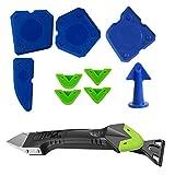 Silikonentferner,5 in 1Silikonfugenentferner Dichtungswerkzeug,4 Stück Blau Werkzeug zum Entfernen des Silikonschabers,Multifunktional Silikon Schaber Set für Küche Bad Boden Fliesen Sink