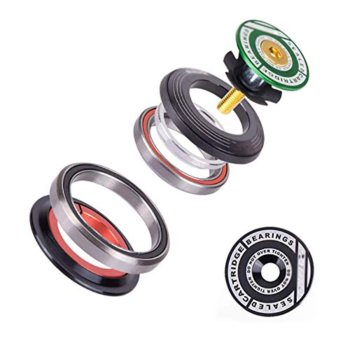 LIUM Auriculares de Bicicleta 42mm 52mm C-N-C 1 1/8'-1 1/2' MTB Rodamiento Tubo Recto y cónico FO-RK IS42 IS52 Columna de dirección Sistema Integrado Auriculares de Bicicletas. lingge