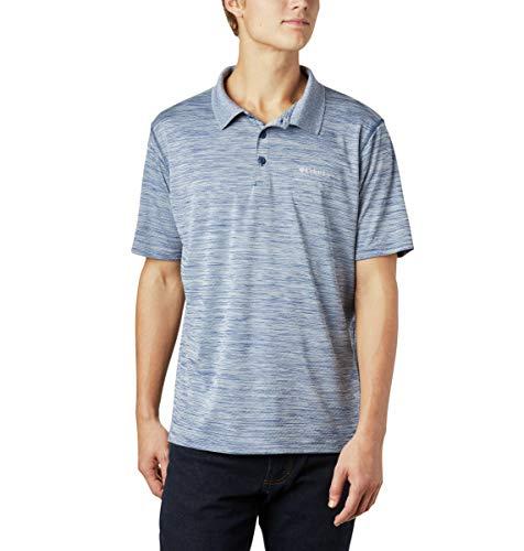 Columbia Kurzärmliges Poloshirt für Herren, Zero Rules Polo, Polyester, dunkelbalu (Carbon Heather), Gr. XS, AM6082