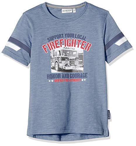 Salt & Pepper Jungen 03112192 T-Shirt, Blau (Smoke Blue 461), (Herstellergröße: 92/98)