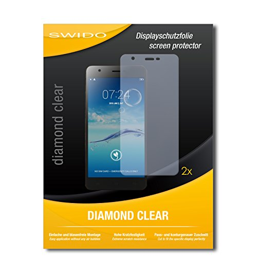 SWIDO 2 x Bildschirmschutzfolie Jiayu S3 Advanced Schutzfolie Folie DiamondClear unsichtbar