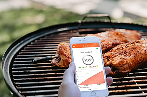 Tappecue Green AirProbe2 Smart Wireless Meat Thermometer for Kitchen Pressure Cooker, AirFryer, BBQ Grill, Oven, Smoker, Rotisserie | Wireless Bluetooth & Cloud Connectivity
