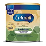 Enfamil ProSobee Soy-Based Infant Formula for Sensitive Tummies, Dairy-Free, Lactose-Free, Milk-Free, and DHA for Brain Support, Plant-Sourced Protein Powder Can, 12.9 Oz
