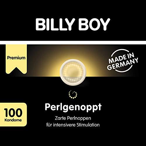 Billy Boy Perlgenoppt Kondome mit Zarten Perlnoppen Premium Großpackung , Transparent, 100er Pack