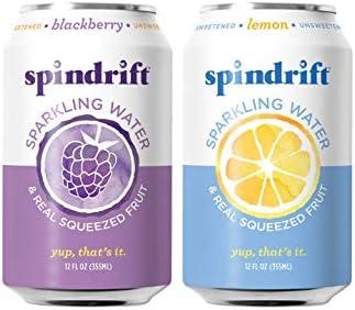48-Pack Spindrift Sparkling Water Variety Pack, 12oz (Blackberry & Lemon)