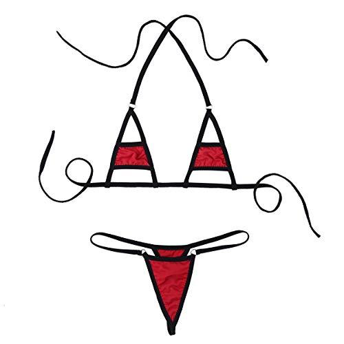 TiaoBug Mujer Bikinis Push Up Brasileño Talla Grande 2019 Bañador Sexy de...