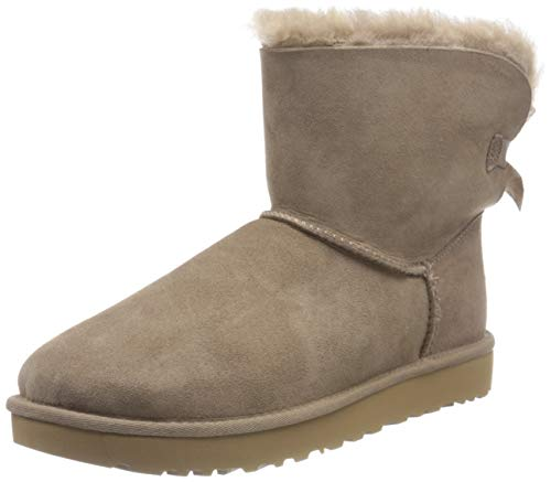 UGG WOMEN'S MINI BAILEY BOW II BOOT CARIBOU 40 EU