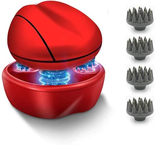 Massaggiatore elettrico del cuoio capelluto, ricaricabile impermeabile massaggiatore testa con due modalità di impastamento, grattaschia per rilassare lo stress e la crescita dei capelli