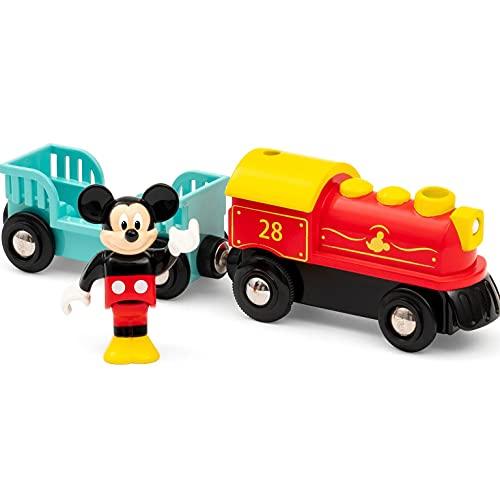 BRIO 32265 Batteriebetriebener Micky Maus Zug, White (Spielzeug)