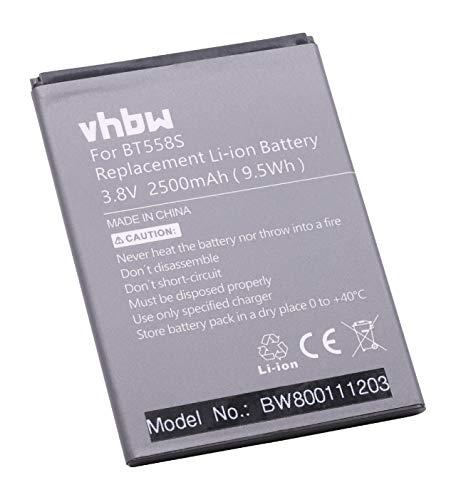 vhbw Li-Polymer Akku 2500mAh (3.8V) für Handy Smartphone Handy Hero 1 wie BT558s.