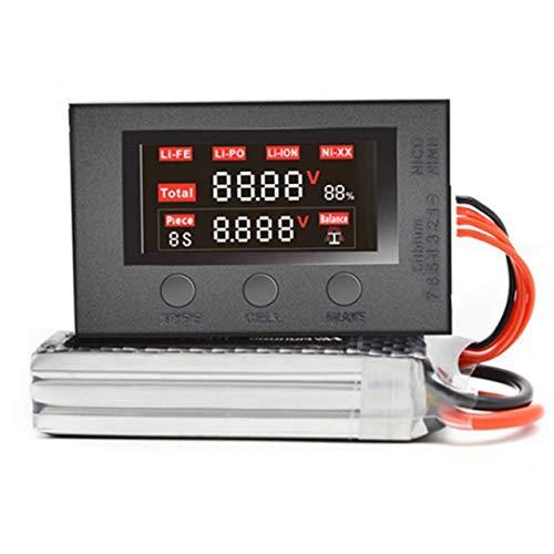 Dengc HotRc BX200 2-7S Niederspannungssummer Alarm Lipo Batteriespannungsprüfgerät Batteriespannungsprüfer für RC Airplane-Black