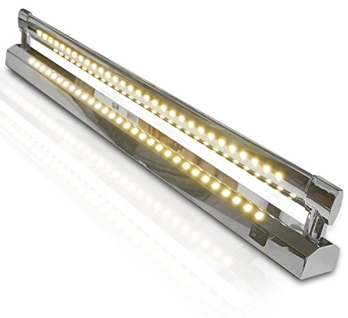 LED Spiegelleuchte Bildleuchte Wandleuchte Badleuchte 10 Watt 48cm nicht Schwenkbar mit 2x Lichtleisten