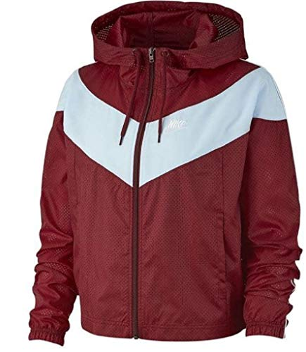 Desconocido Inconnu W NSW Hrtg JKT Wndbrkr Hooded Jacket, Femme L Rouge/Bleu/Blanc (Team Red/Celestine Blue/White)