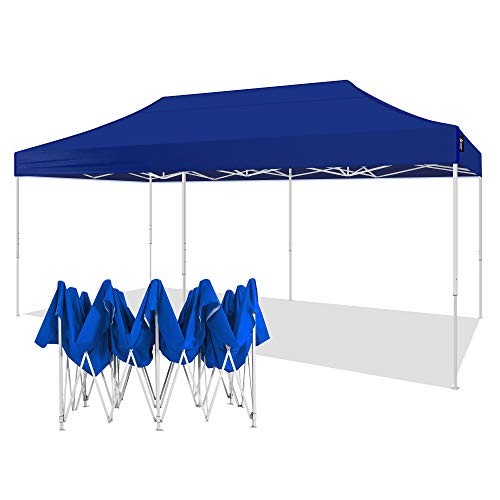 AMERICAN PHOENIX Canopy Tent 10x20 Pop Up Instant Shelter Shade Heavy Duty Commercial Outdoor Party Tent (10x20FT (White Frame), Blue)