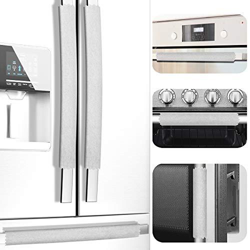 Juego de 6 cubiertas para manillas de puerta de refrigerador, elegantes y ajustadas, mantiene tu aparato de cocina limpio de manchas,...