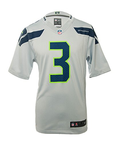Nike NFL Mens Russell Wilson Seattle Seahawks Jersey - Grey - Small