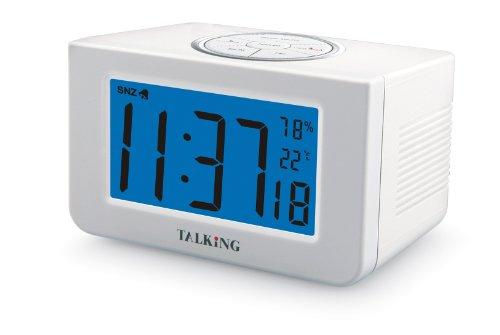 Lifemax 1233 - Despertador digital con señal de voz (grande)