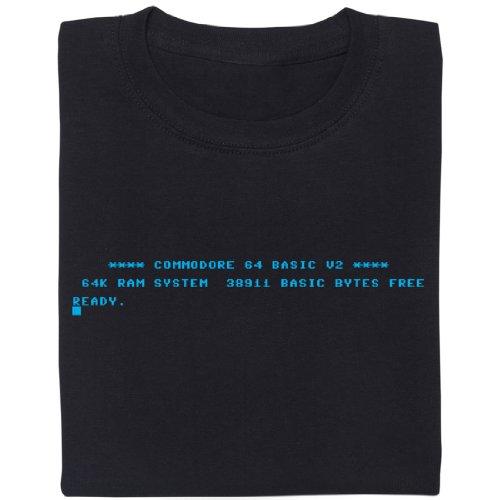C64 Startbildschirm - Geek Shirt für Computerfreaks aus fair gehandelter Bio-Baumwolle, Größe L