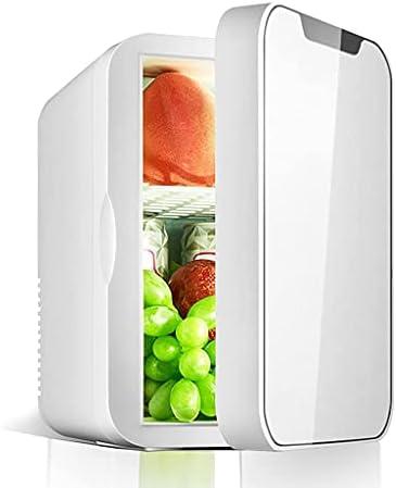 Refrigerador para automóvil de 8 L, refrigerador portátil para el Cuidado de la Piel, cosméticos, Bebidas, bocadillos, Enfriador de Bebidas pequeño y silencioso AC/DC, para el hogar, la Oficina, p