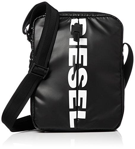 Diesel F-BOLD SMALL CROSS, Mochila para Hombre, Negro (Black), 1x25x23 cm (W x H x L)