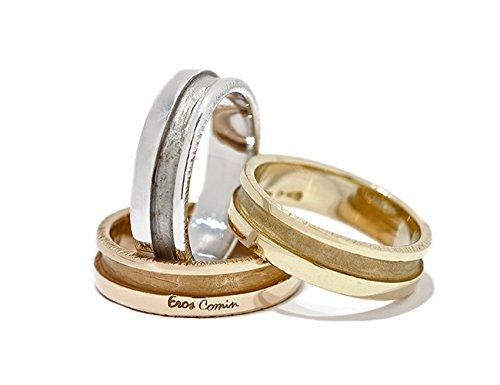 Fedi Nuziali di design con lavorazione artigianale esclusiva oro 18 kt.