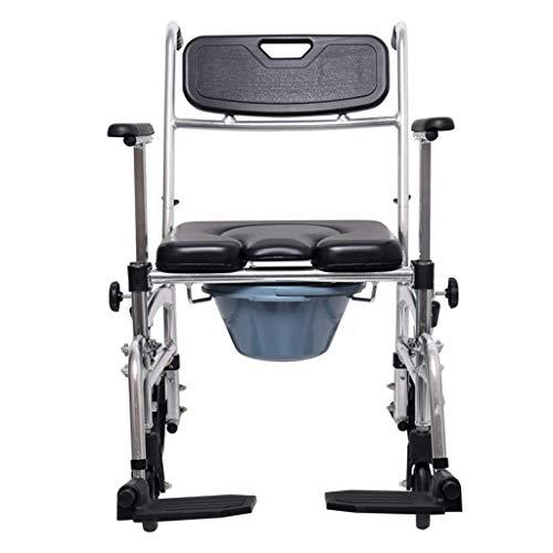 Z-SEAT Bariatrischer Toilettensitz Nachttisch Kommode Toilettenstuhl, Rollstühle mit hoher Rückenlehne, mit Fallarm und Sicherheitsrahmen, für Erwachsene, Behinderte, ältere Menschen