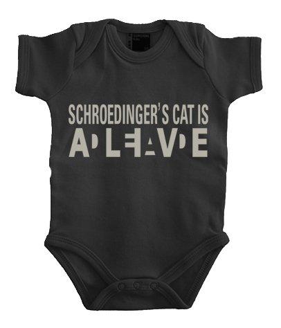 Touchlines Baby Body Schroedingers Cat Wanted Corps, Noir (Black/Silver), 6 Mois (68 cm) Mixte bébé