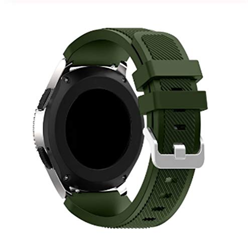 RZRCJ Bunter Ersatz Silikon-Handgelenk-Band-Bügel for Samsung Gear S3 Klassische Frontier Armband for Fitness Laufen Breathable (Color : Army Green)
