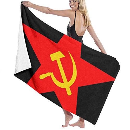ghjkuyt412 Bath Towel,80X130Cm USSR Hammer & Sickle Bath Towels Super Absorbent Beach Bathroom Towels For Gym Beach SWM SPA
