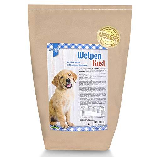 Schecko fit Welpenkost Trockenfutter - 1,5kg - in 3 verschiedenen Alterssorten erhältlich - speziell für Welpen und Junghunde - hoher Proteingehalt - wertvolle Inhalte
