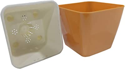 Montyybucks Inc Self Watering Planter Pot for Kids Orange