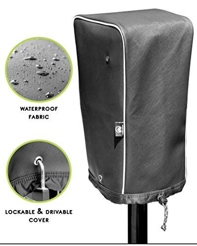 Trailersphere Easy Cover Universal Electric Tongue Jack Protective Cover for Trailer, RV, Camper, Sun and Waterproof