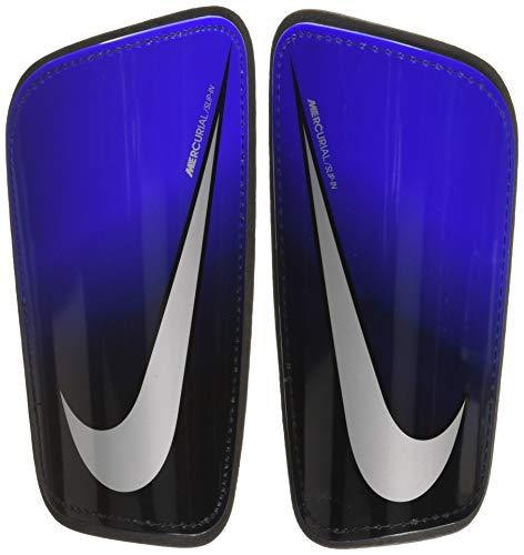 Nike Unisex-Erwachsene Mercurial Hard-Shell Schienbeinschoner, Racer Blue/Black/Metallic Silver, M